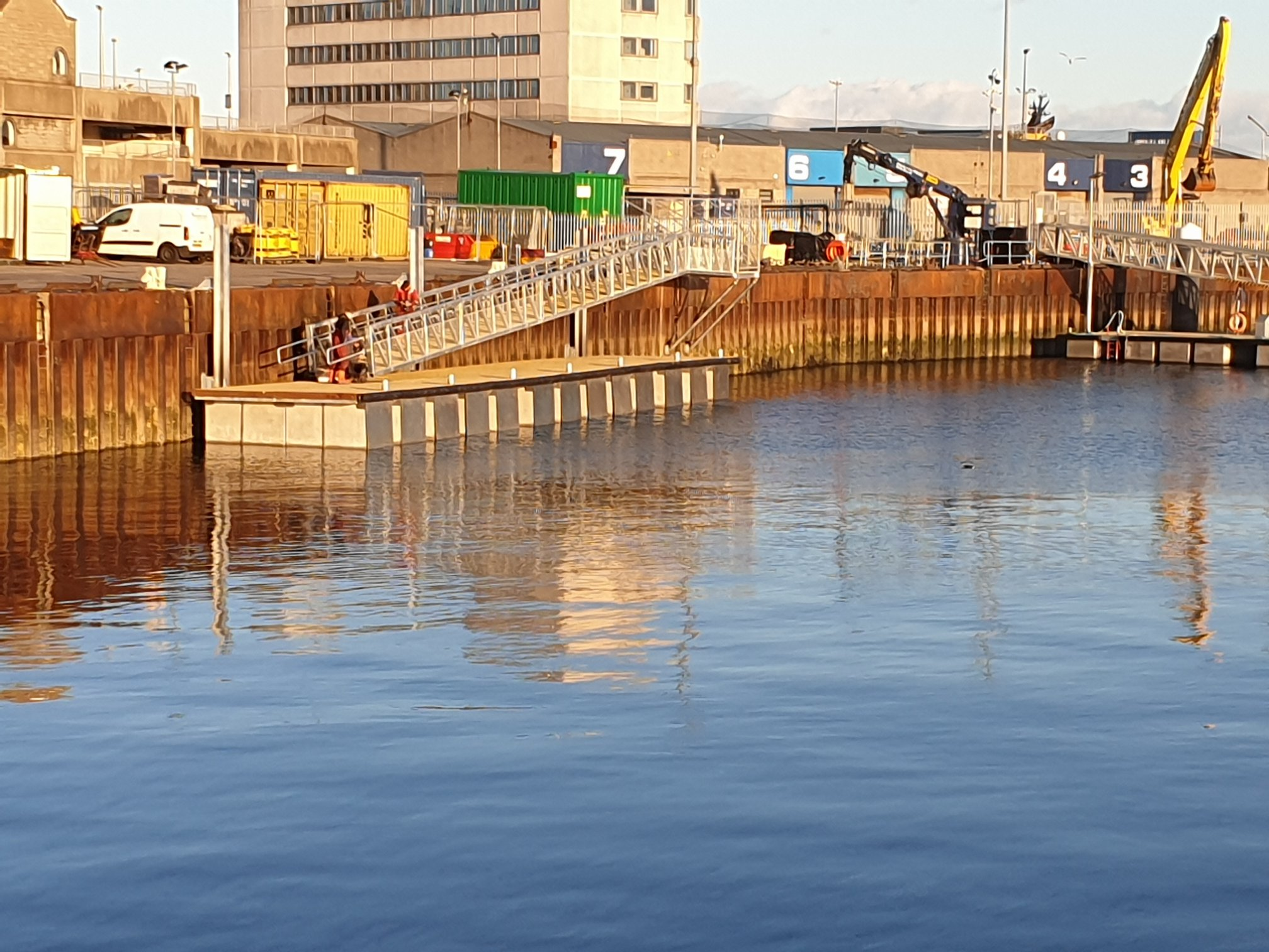 Pontoons in Aberdeen Harbour